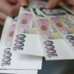 Средняя зарплата в Чехии за последний квартал 2014-го превысила 27 тысяч крон